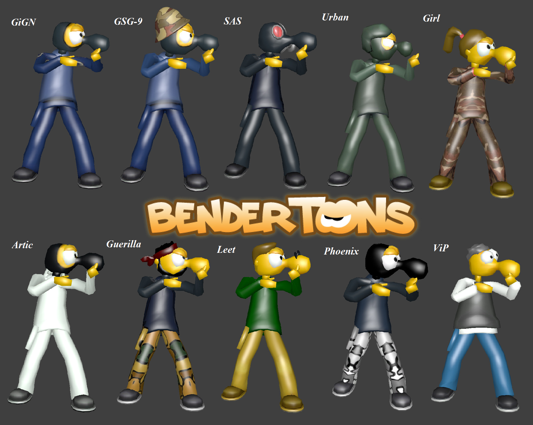 Bender Toons Player Pack