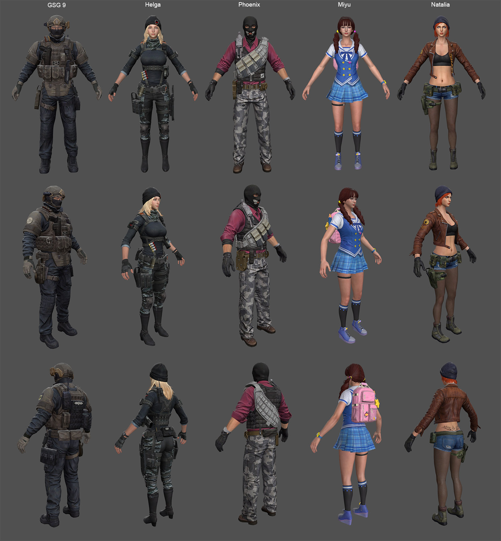 Characters Pack 3 (Counter Strike Online 2)