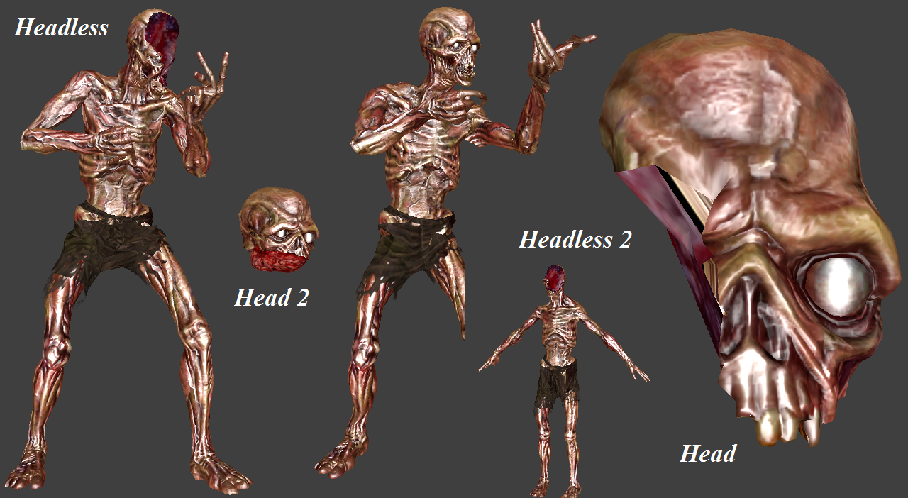 Ghoul Skeleton (Fallout 3 - Decapitation Support)