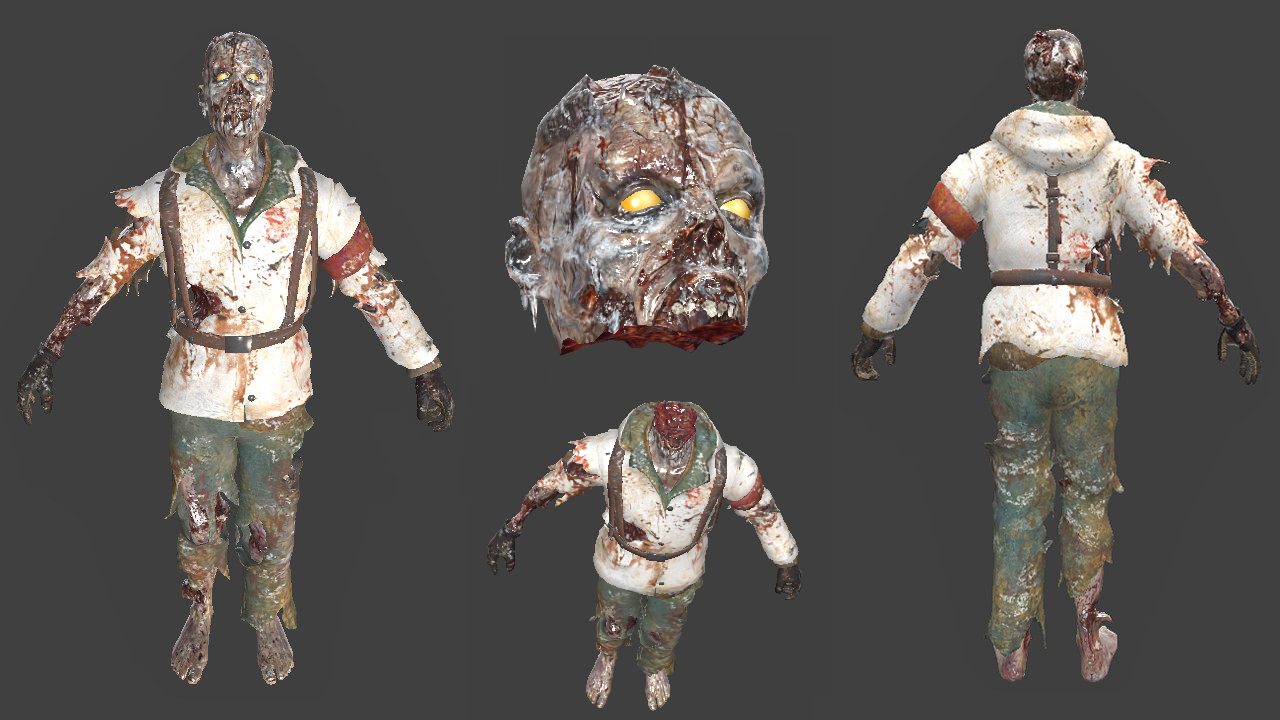 Frozen Zombie (Nazi - Decapitation Support)