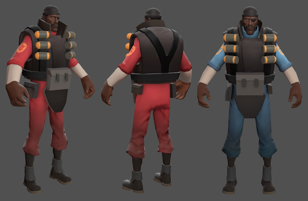 Demoman Pack (TF2 - Red & Blue)