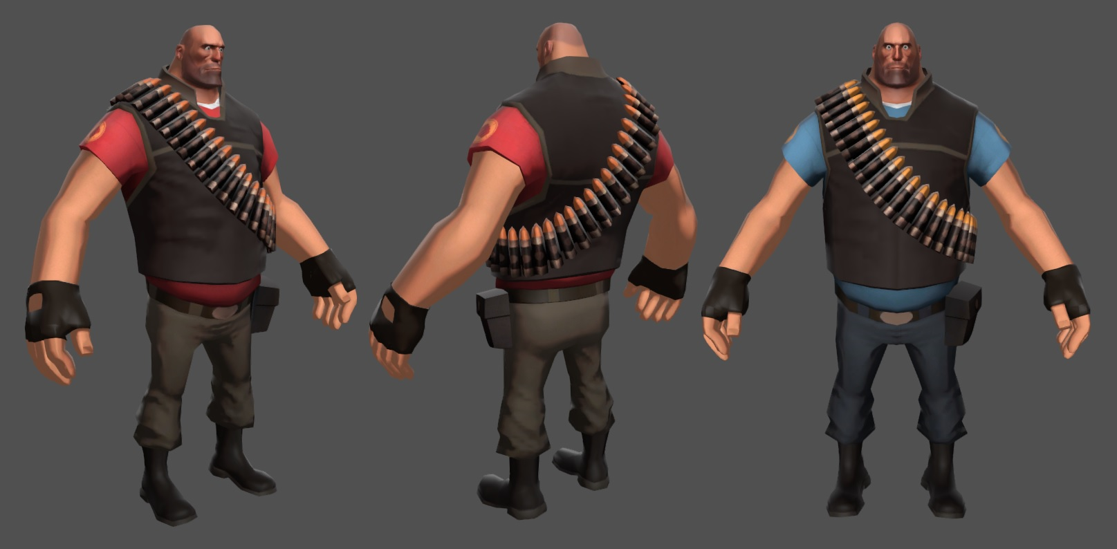 Heavy Pack (TF2 - Red & Blue)