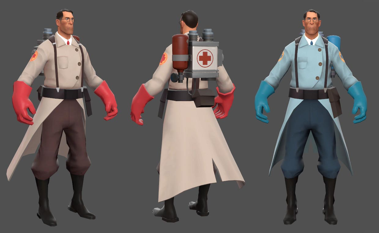 Medic Pack (TF2 - Red & Blue)