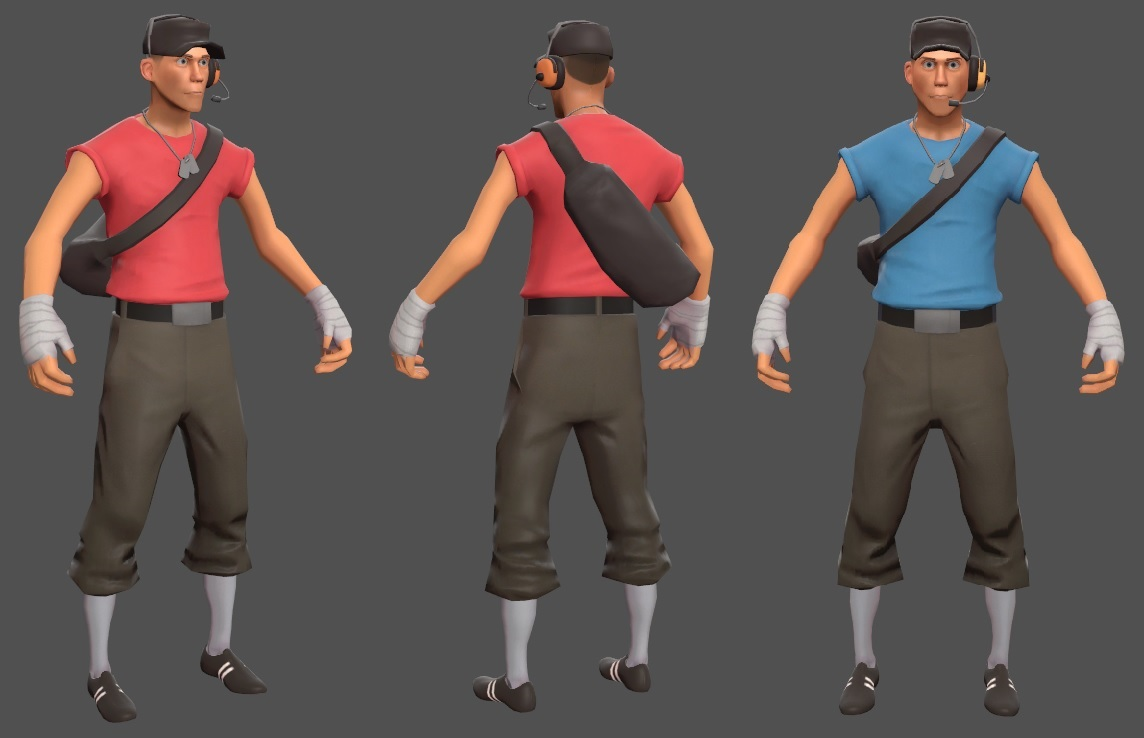 Scout Pack (TF2 - Red & Blue)