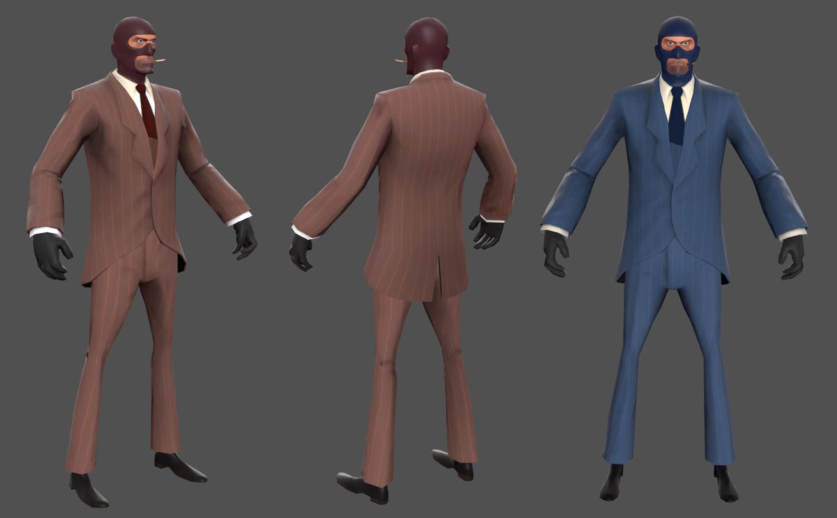 Spy Pack (TF2 - Red & Blue)