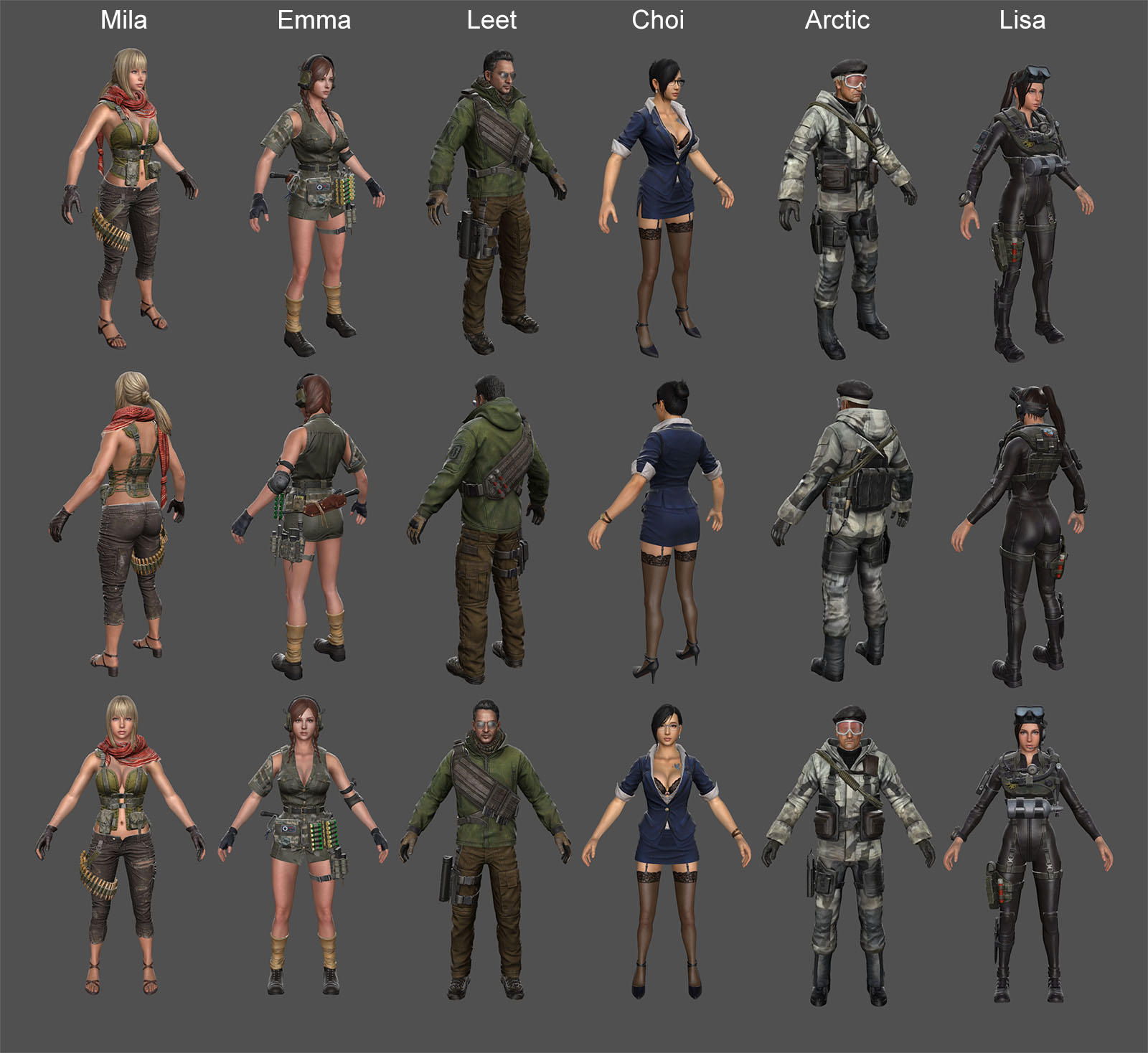 Characters Pack 1 (Counter Strike Online 2)
