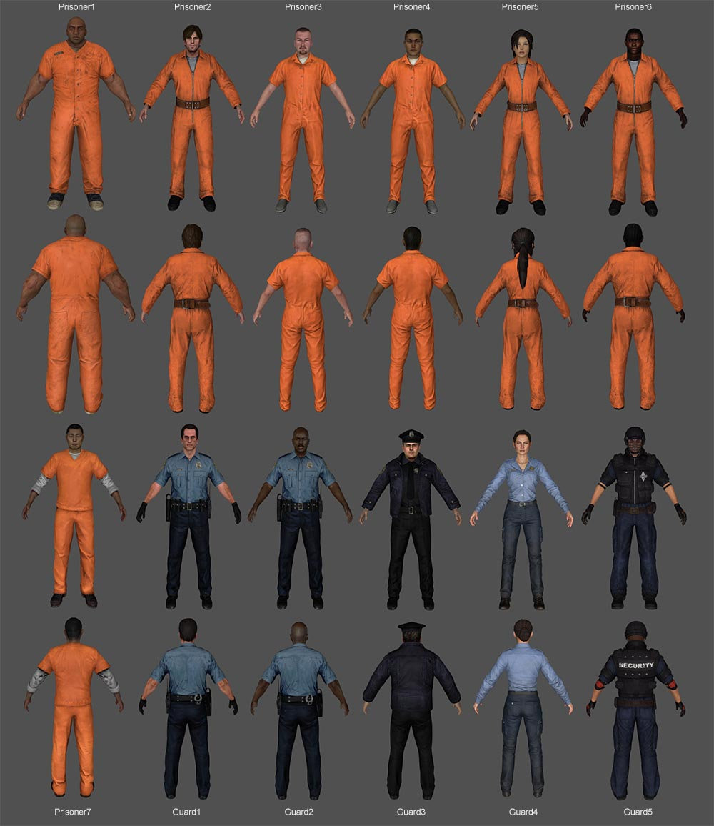 JailBreak Pack (Prisoners & Prison Guards, Police Officers)